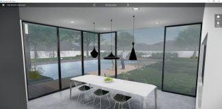 Autodesk live dining room rendering