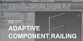 Revit adaptive component railing