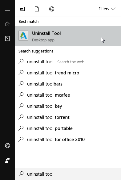 Autodesk Uninstall Tool Start Menu