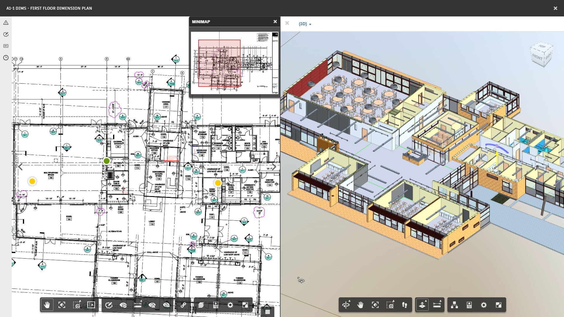 Autodesk BIM 360 Docs split window