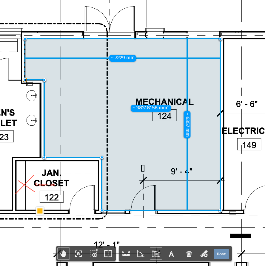 BIM 360 Docs measurement area angle